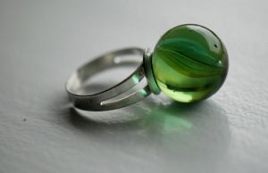 Homemade: Marble ring by MarteRavn