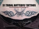 Tribal Butterfly Tattoos by fiftyfivepixels