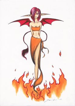 Devil Girl by Crabatithenniel