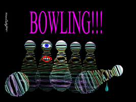 Creepy Bowling by alteredteddybear