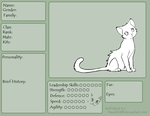 Warrior cat Ref Sheet (All members must use) by May1337