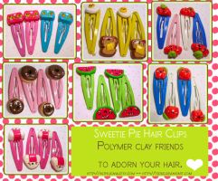 Sweetie Pie Hair Clips by tedsie