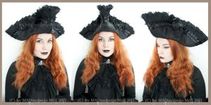 Black Gothic Tricorn by MADmoiselleMeli