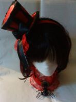 Red Black Mini Top Hat 2 by washue-costume
