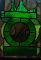 Green Lantern Stained Glass by AutobotWonko