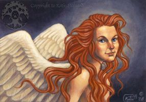 Red Haired Angel by KatieHofgard