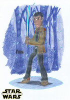 Finn - Star Wars: The Force Awakens by FelixToonimeFanX360
