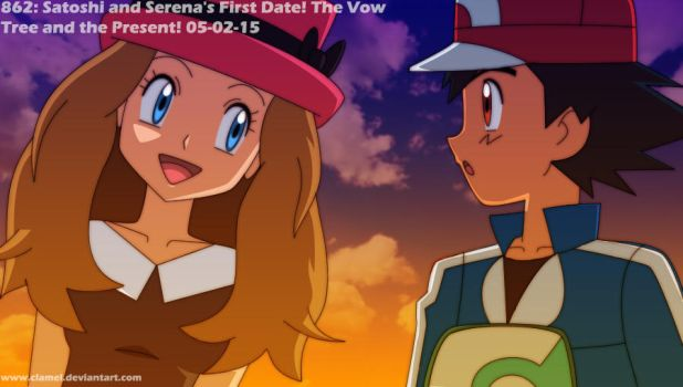 EP862 Ash and Serena's First Date by clamel