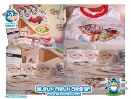 Kawaii Cali Sushi Promo Merch by KawaiiUniverseStudio