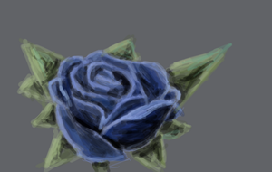 Blue rose by XerafCZ