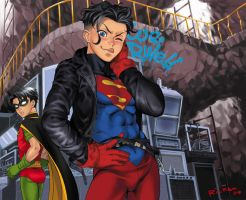 Superboy and Robin by Ricken-Art