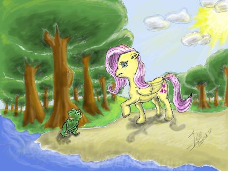 Fluttershy and the Prince by Malduki