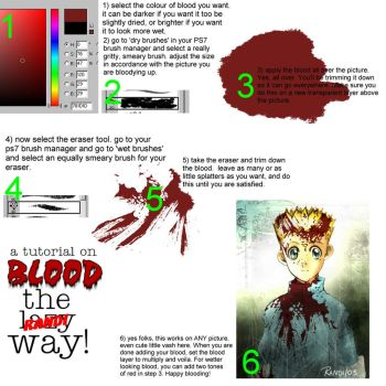 PS7 Tutorial on Blood by doujinshi