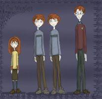Tim Burton's The Weasleys by Hillary-CW