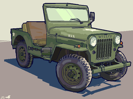 willys jeep by art-kit