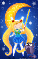 Sailor Fionna and Cake by NikkiWardArt