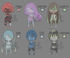 [CLOSED] Elemental Adoptables by Lululencia