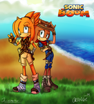 Two booming hedgehogs. -Colab whit OrangeStarZone by jacobmester