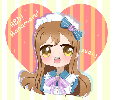 HBD Hanamaru chan! + SPEEDPAINT! by jeash022