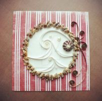 combination of natural materials and quilling3 :) by othewhitewizard