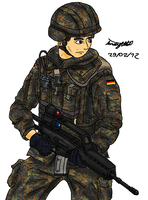Bundeswehr soldier by ND-2500