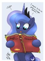 MLP FIM - Princess Luna Want To Learn More Magic by Joakaha