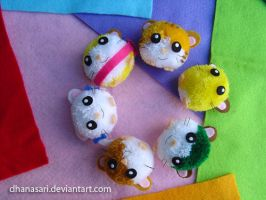 Hamtaro and friends by Dhanasari