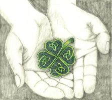 011-052 St. Patrick's Day Celtic Clover by sweetmarly
