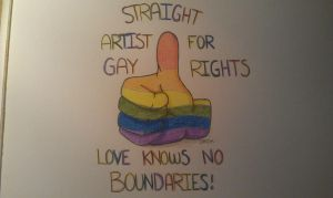 STRAIGHT ARTIST FOR GAY RIGHTS! by DarcArtDK