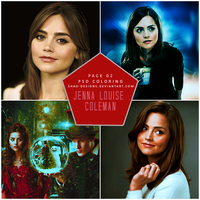 Pack 02  PSD Coloring Jenna Louise Coleman by shad-designs