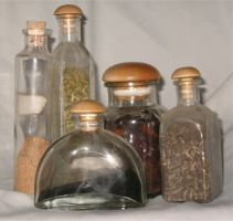 Herb Bottles by Falln-Stock