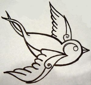 Swallow Tattoo Designs 6