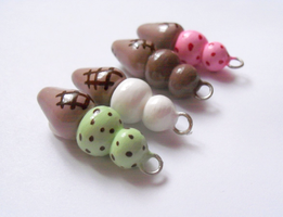 Ice Cream Cone Charms by MariposaMiniatures