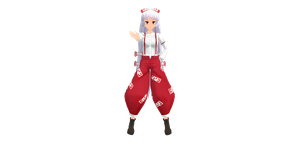 Nakao Mokou - full body by Isabeladenicola