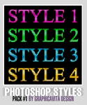 Photoshop Styles Pack #1 by graphicavita