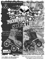 North Vs South Game BW by rawjawbone