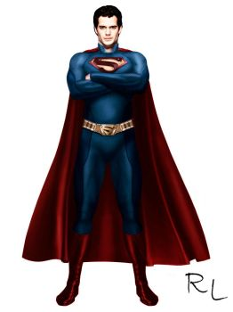 Superman Henry Cavill by Rapha-Leite
