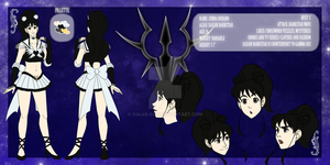 Commission - Sailor Dark Star Ref by Val4s-san