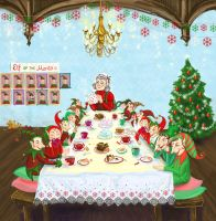 Mrs. Claus - hosting tea party by Redilion