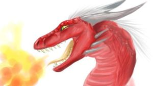 A Red Dragon by Kitsune--Rin