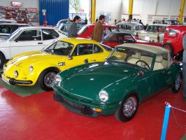 Renault Alpine and MG by fueledbyfreestock