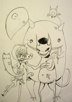 Creepy Monsters by xxswanfeather