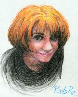 portrait in crayon by Bob-Rz