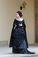Stock - Dark victorian lady romantic pose by S-T-A-R-gazer