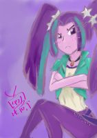 Aria Blaze Doodle by SapphireVision421