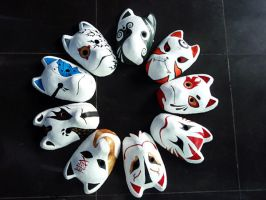 Our group's anbu masks by mellysa