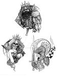 Heartless King, Faceless Queen, Honorless Knight by Lercio4life
