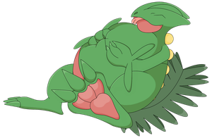 Sceptile Big belly by ZackTheRiolu