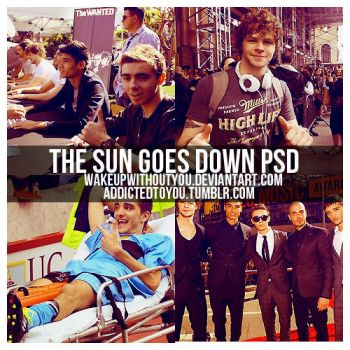 The sun goes down PSD by WakeUpWithoutYou