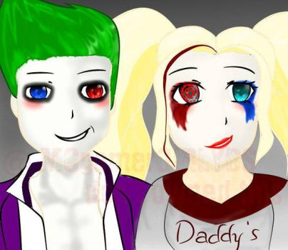 joker and harley quinn  by DEMIgamerGIRLYDS1